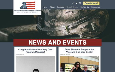 Screenshot of Press Page vocwny.org - News & Events | Veterans One-stop Center of WNY - captured Oct. 18, 2018