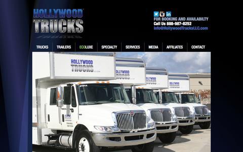Screenshot of Home Page hollywoodtrucksllc.com - Hollywood Trucks LLC - captured Oct. 3, 2014