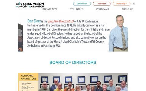 Screenshot of Team Page cityunionmission.org - Leadership Teams | Leadership | City Union Mission - captured Nov. 4, 2018