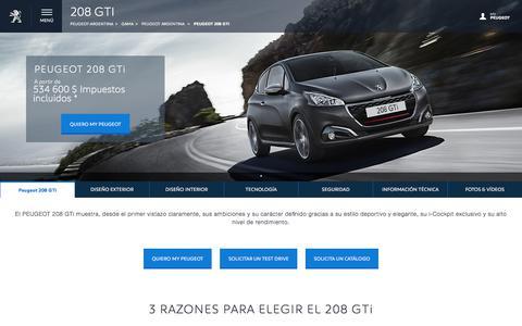 Peugeot 208 GTi   Peugeot Argentina