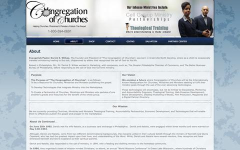 Screenshot of About Page congregationofchurches.org - About - captured Nov. 21, 2017