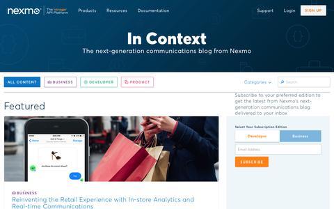 Blog - Nexmo
