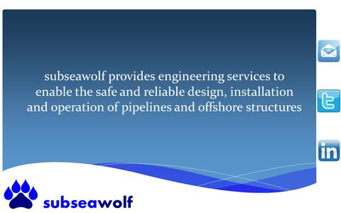 Screenshot of Home Page subseawolf.com captured Sept. 30, 2014