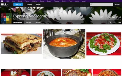 Screenshot of Flickr Page flickr.com - Flickr: Exploring Macedonia's Photostream - captured Oct. 23, 2014