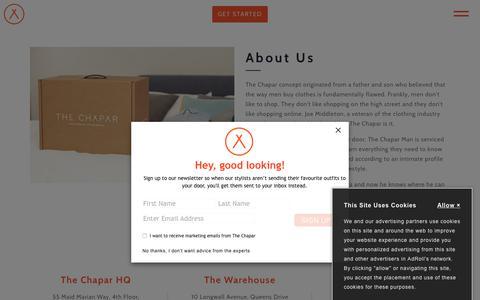 Screenshot of About Page thechapar.com - About Us                      – The Chapar - captured Sept. 20, 2018