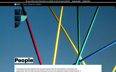 Screenshot of Team Page progressivecp.com - Our People - Progressive Content - captured Feb. 1, 2016