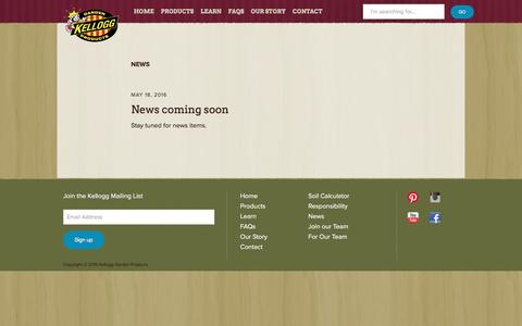 Screenshot of Press Page kellogggarden.com - News | Kellogg Garden Products - captured Nov. 27, 2016