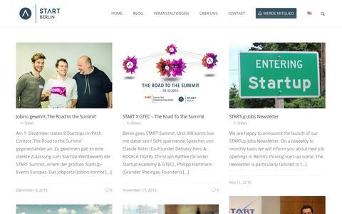 Screenshot of Blog start-berlin.com - START Berlin – Studierendeninitiative für Gründung und UnternehmertumBlog - START Berlin - Studierendeninitiative für Gründung und Unternehmertum - captured Feb. 2, 2016