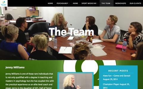 Screenshot of Team Page bestongroundperformance.com - The Team | Best On Ground Performance - captured Sept. 30, 2014