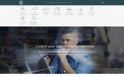Screenshot of Home Page esealinc.com - eSeal - Global leader in supply chain digitalization. - captured Nov. 14, 2016
