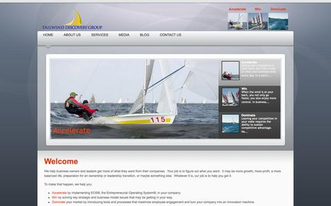 Screenshot of Home Page tailwinddiscoverygroup.com - Tailwind Discovery Group - captured Oct. 9, 2014