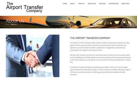 Screenshot of About Page airport-transfer-company.com - About The Airport Transfer Company | The Airprot Transfer Company - captured Feb. 17, 2016