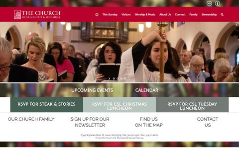 Screenshot of Home Page csmsg.org - The Church of St. Michael & St. George | The Church of St. Michael & St. George - captured Nov. 15, 2018