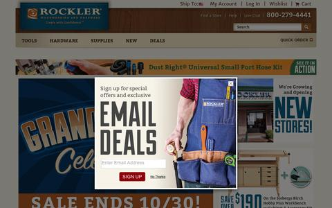 Screenshot of Home Page rockler.com - Woodworking Tools Supplies Hardware Plans Finishing - Rockler.com - captured Oct. 29, 2015