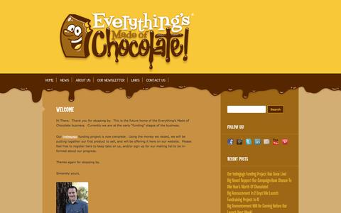 Screenshot of Home Page everythingsmadeofchocolate.com - Everythings Made of Chocolate | Dont you wish everything was made of chocolate? - captured Sept. 30, 2014
