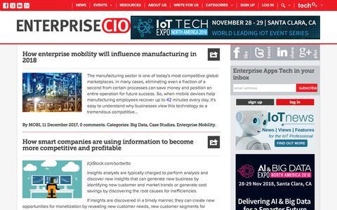 Screenshot of Case Studies Page enterprise-cio.com - Enterprise mobile case studies, best practice - Enterprise Apps Tech News - captured Sept. 23, 2018