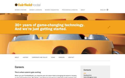 Screenshot of Jobs Page fairfieldnodal.com - Careers — FairfieldNodal - captured Sept. 30, 2014