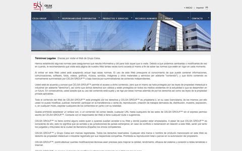 Screenshot of Terms Page celsagroup.com - Celsa Group - captured July 14, 2018