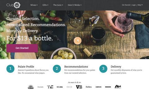 Screenshot of Home Page clubw.com captured Sept. 13, 2014