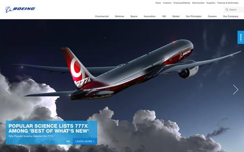 Screenshot of Home Page boeing.com - Boeing: The Boeing Company - captured Dec. 4, 2015