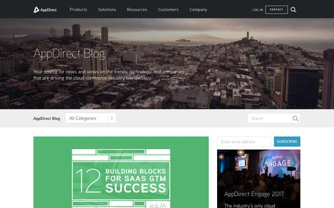 Screenshot of Blog appdirect.com - The Leading Cloud Commerce Platform - AppDirect - captured July 16, 2017