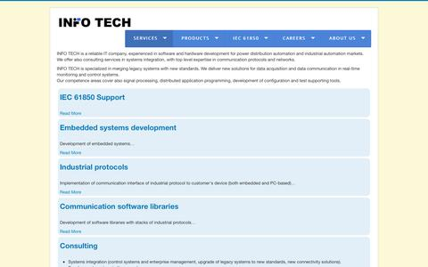 Screenshot of Services Page infotech.pl - Services - captured July 21, 2016