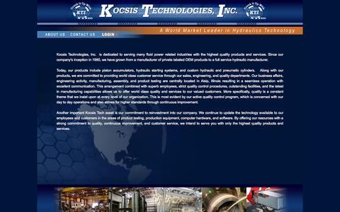 Screenshot of About Page kocsistech.com - About Us - captured Oct. 8, 2014