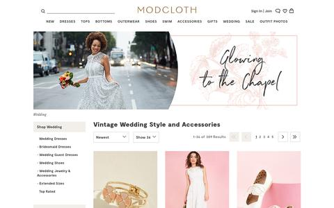 Vintage Wedding Style & Accessories | ModCloth
