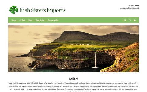 Screenshot of Home Page Menu Page irishsisters.com - Irish Sisters Imports - captured Oct. 6, 2014