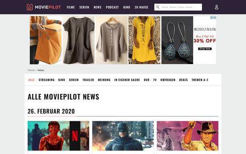 Screenshot of Press Page moviepilot.de - Aktuelle News rund um Kino, Serien, Streaming & DVD | Moviepilot.de - captured Feb. 26, 2020