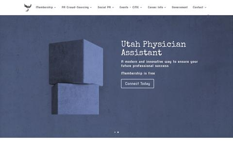 Screenshot of Home Page utahpac.org - Utah Physician Assistant (PA) Connection - captured Oct. 9, 2015