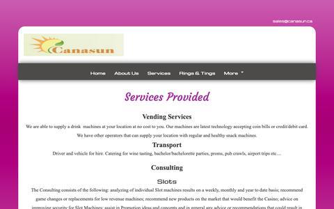 Screenshot of Services Page canasun.ca - Service-Canasun - captured Sept. 26, 2018