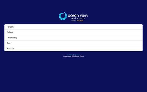 Ocean View - Dubai Properties & Real Estate Agency Dubai
