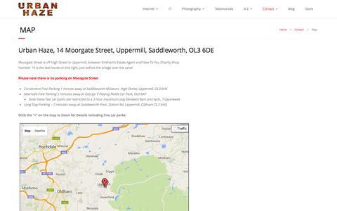 Screenshot of Maps & Directions Page urbanhaze.com - Map to Urban Haze | Urban Haze - captured Jan. 12, 2016