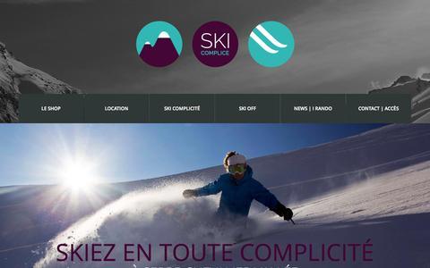 Screenshot of Home Page ski-complice.com - Ski Complice | - captured Oct. 15, 2015