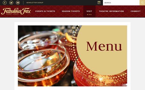 Screenshot of Menu Page fabulousfox.com - Menu | The Fabulous Fox Theatre - captured Feb. 24, 2018