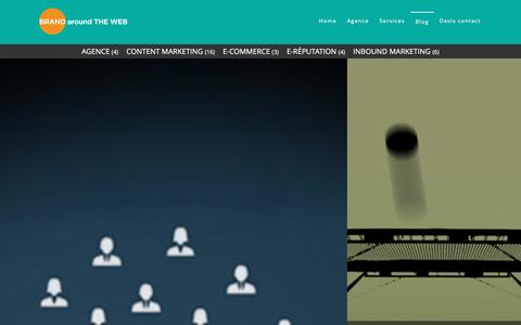 Screenshot of Blog brandaroundtheweb.com - Le blog de Brand Around The Web sur l'actualit� Inbound et Content marketing. - captured Jan. 17, 2016
