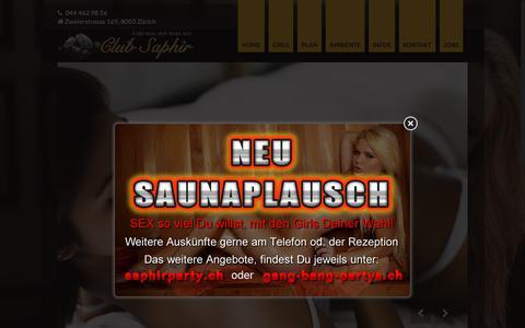 Screenshot of Home Page club-saphir.ch - Club Saphir Zürich - captured Nov. 1, 2018