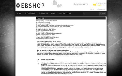 Screenshot of FAQ Page yorservsolutions.co.uk - FAQ : Work & Utility Footwear,hoodies coats - captured Oct. 20, 2018