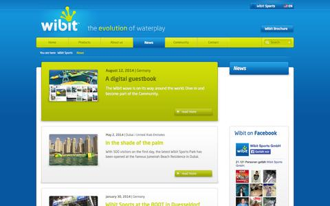 Screenshot of Press Page wibitsports.com - Inflatable Water Slide for Commercial Pools and Resorts | Wibit Sports - captured Sept. 24, 2014