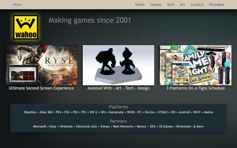 Screenshot of Home Page wahoo.com - Wahoo Studios - captured Oct. 16, 2015
