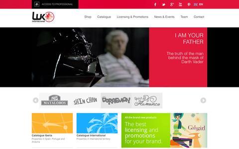 Screenshot of Home Page lukinternacional.com - LUK Internacional - captured Oct. 9, 2015