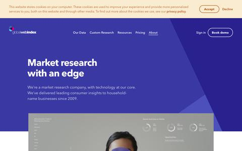 Screenshot of About Page globalwebindex.com - About us - Our Story, What We Do and Who We Are - GlobalWebIndex - captured Nov. 7, 2019