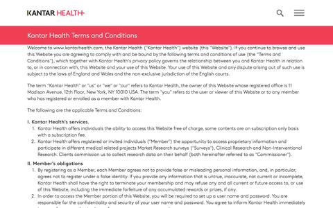 Terms and Conditions of Use | Kantar Health