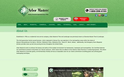 Screenshot of About Page arbormasters.com - About Arbor Masters Certified Aborists Tree Services - captured Dec. 12, 2018