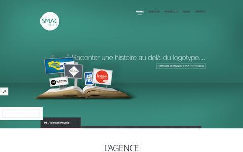 Screenshot of Home Page agence-smac.com - Home   Agence Smac - captured Jan. 27, 2015