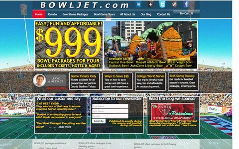 Screenshot of Home Page bowljet.com - 2014-bowl-season - captured Oct. 4, 2014