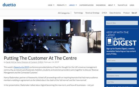 Screenshot of Case Studies Page duettocloud.com - Putting The Customer At The Centre - captured Jan. 6, 2020