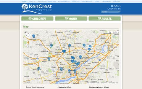 Screenshot of Maps & Directions Page kencrest.org - KenCrest: Map - captured Sept. 30, 2014