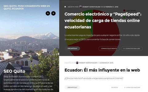 Screenshot of Home Page seo-quito.com - SEO-Quito, Posicionamiento web en Quito, Ecuador - Posicionamiento web en Quito, Ecuador - captured Feb. 20, 2016